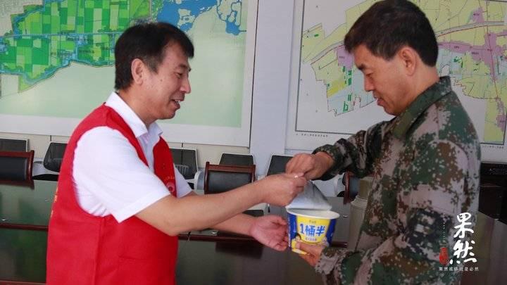 工行滨州博兴支行为安置点受灾群众送来救援物资
