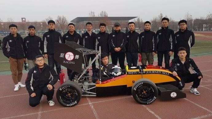 果然视频|牛!山东交通学院大学生手工造出方程式赛车