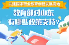 共建国家职业教育创新发展高地,教育部对山东有哪些政策支持?
