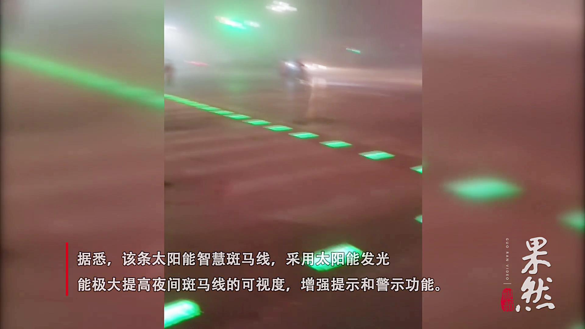 果然视频丨全国县级城市首条!太阳能智慧斑马线亮相聊城冠县街头