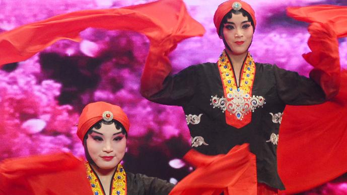奎华播报:2020茌平区春节联欢晚会之四戏曲舞蹈《袖舞蹁跹》