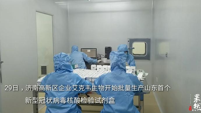 果然视频|山东首个新型冠状病毒核酸检验试剂盒已开始批量生产