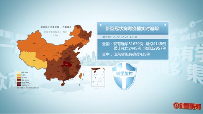 壹视频|众志成城战疫情,齐鲁晚报数据通报2月23日12点