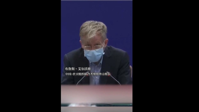 听到世卫专家评价中国,翻译小姐姐哽咽了