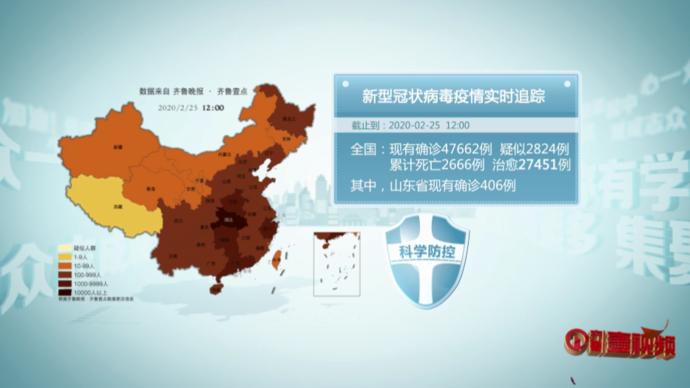 壹视频|众志成城战疫情,齐鲁晚报数据通报2月25日12点