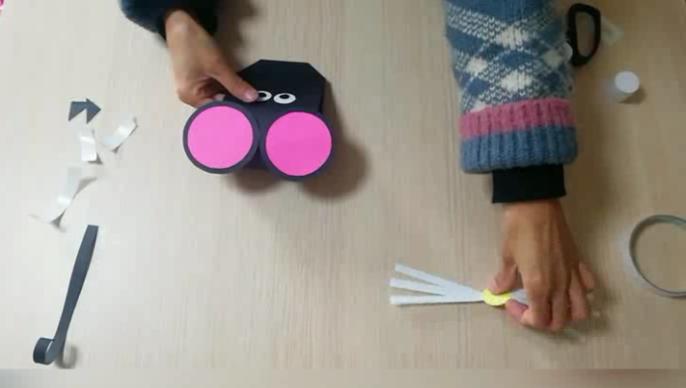 壹点网课|吱吱吱!天桥桑梓中心幼儿园老师教你做只手工小老鼠