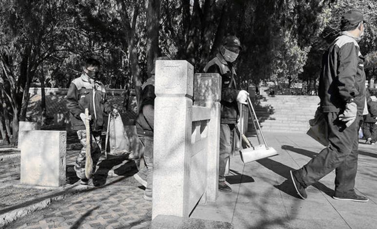 济南英雄山烈士陵园统一祭扫,烈士墓区整洁庄严