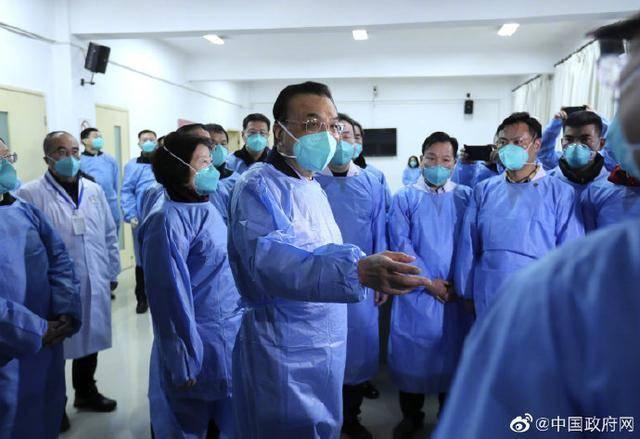 受习近平总书记委托,李克强总理来到武汉考察指导疫情防控工作
