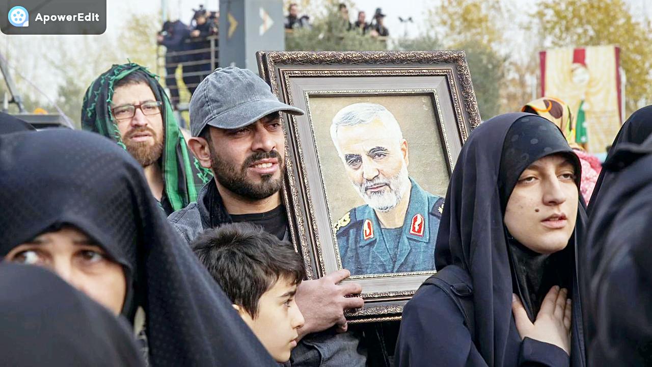 伊朗袭击美军基地视频,数十导弹升空报复美军暗杀