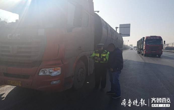 滨州无棣交警大队开展货车超载超限违法行为专项整治行动