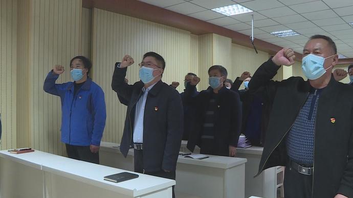 菏泽二中开展主题党日活动,78名党员汇聚正能量,筑牢防疫墙