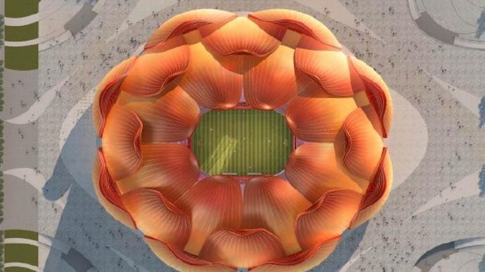 果然视频丨广州恒大新主场效果曝光,形似广州市花木棉花