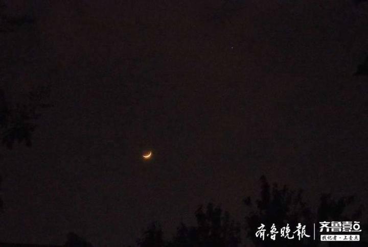 金星全年最明亮,济南上演双星合月奇观
