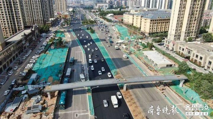 济南顺河快速路南延地面工程8月中上旬完工,居民出行将改善
