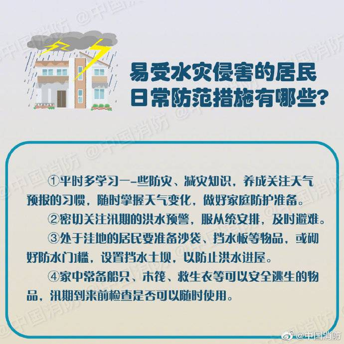 《【摩臣测速登录】遇到强降雨、洪涝灾害该怎么办?避险自救指南来了!》